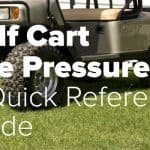 golf cart tire pressure