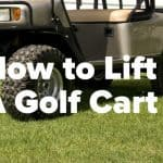 how to lift a golf cart